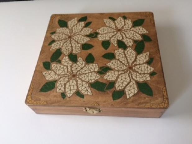 Beautiful Magnolia Inlaid Decorative Box Scat Cat Art Extraordinary Decorative Box Files
